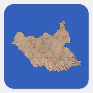 South Sudan Map Sticker