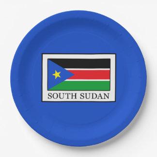 South Sudan Paper Plate