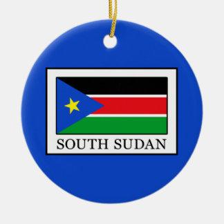 South Sudan Round Ceramic Decoration