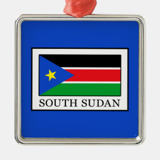 South Sudan Silver-Colored Square Decoration