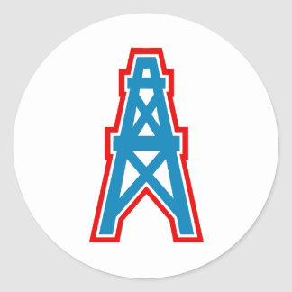South Texas Youth Football League Alice Oilers Round Sticker