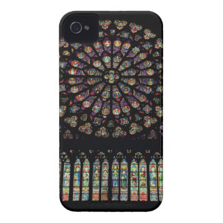 South transept rose window depicting Christ in the iPhone 4 Case-Mate Cases