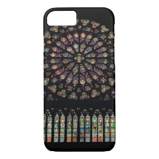 South transept rose window depicting Christ in the iPhone 8/7 Case