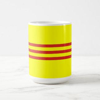 south vietnam ethnic flag coffee mug