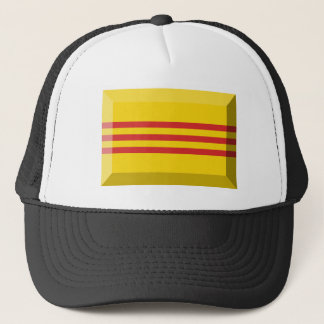 South VietNam Flag Jewel Trucker Hat