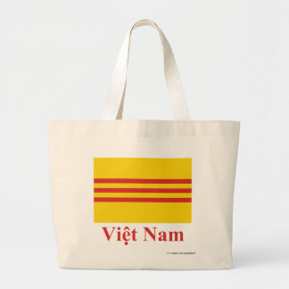 South Vietnam Flag with Name in Vietnamese Jumbo Tote Bag
