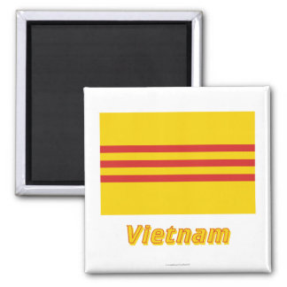 South Vietnam Flag with Name Magnet