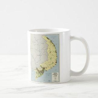 South Vietnam Map September 1972 Coffee Mug