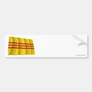 South Vietnam Waving Flag Bumper Sticker