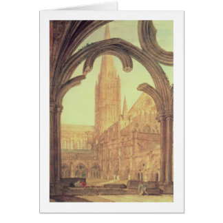 South View of Salisbury Cathedral from the Cloiste Card