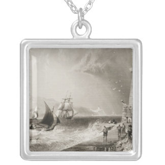 South Wall Lighthouse with Howth Hill Silver Plated Necklace