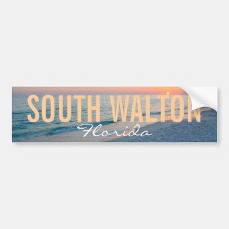 South Walton Beach Florida Car Bumper Sticker