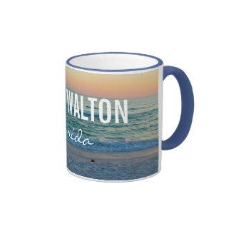 SOUTH WALTON FLORIDA - Beach Sunset Ringer Coffee Mug