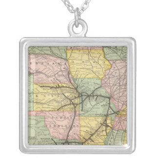 South West Railway System Silver Plated Necklace