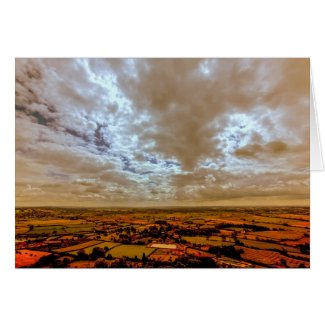 South West View from Glastonbury Tor Card