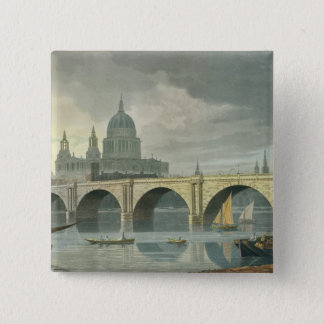 South West view of St Pauls Cathedral 15 Cm Square Badge