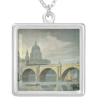 South West view of St Pauls Cathedral Silver Plated Necklace
