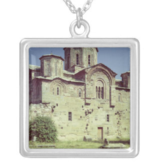 South-west view of the Church of Sveti Djordje Silver Plated Necklace