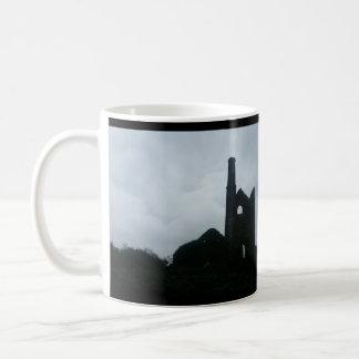 South Wheal Frances Tin Mine Cornwall England Basic White Mug