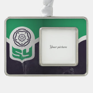 South Yorkshire Silver Plated Framed Ornament