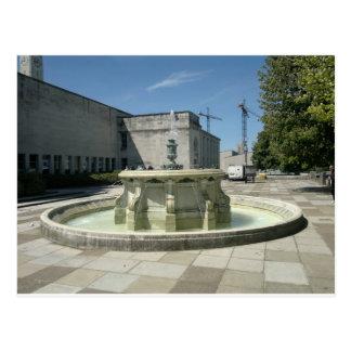 Southampton Library Fountain Postcard