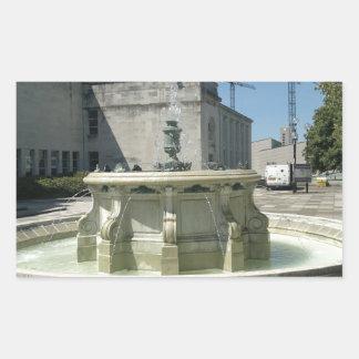 Southampton Library Fountain Rectangular Sticker