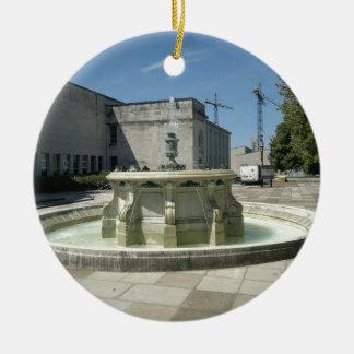 Southampton Library Fountain Round Ceramic Decoration