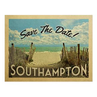 Southampton Save The Date Vintage Beach Nautical Postcard