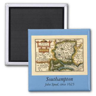 Southampton: Southamptonshire Hampshire County Map Square Magnet