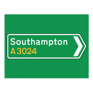 Southampton, UK Road Sign Postcard
