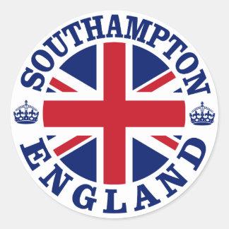 Southampton Vintage UK Design Classic Round Sticker