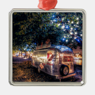 Southbank Food Truck, London Silver-Colored Square Decoration