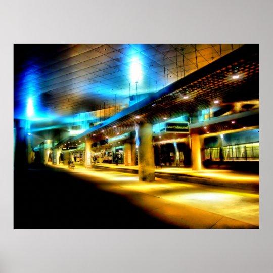 Southbound Light Rail Poster