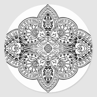 Southeast Asian Design 2 Classic Round Sticker