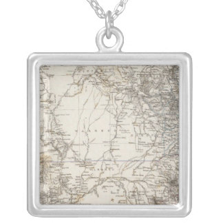 Southeast Australia Map Silver Plated Necklace