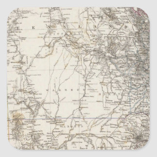 Southeast Australia Map Square Sticker