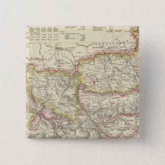 Southeast Europe, Romania, Turkey, Servia 15 Cm Square Badge