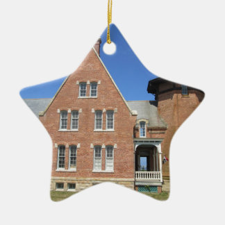 Southeast Lighthouse Building Block Island Christmas Ornament
