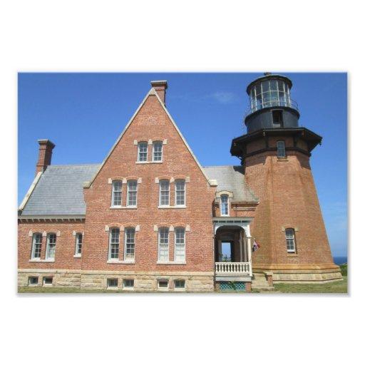 Southeast Lighthouse Building Block Island Photographic Print