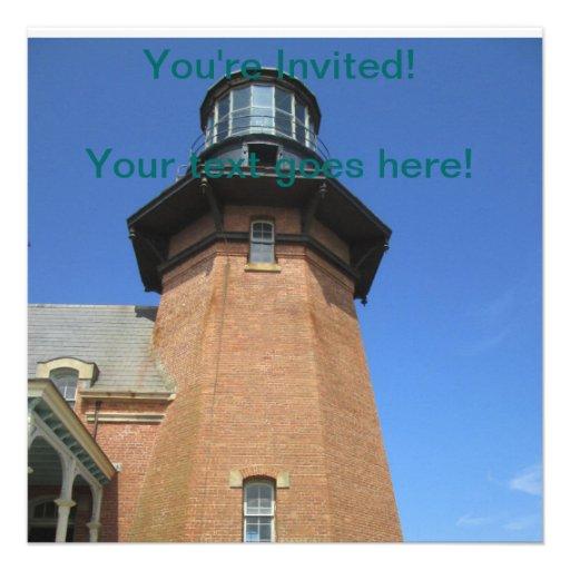 Southeast Lighthouse Tower Block Island Invitations