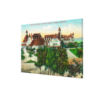 Southeastern View of the Hotel del Coronado Stretched Canvas Prints