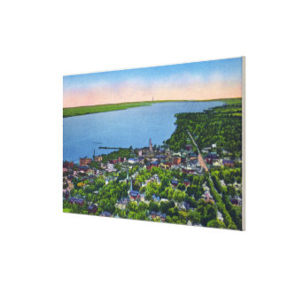 Southern Aerial of the Town Canvas Print