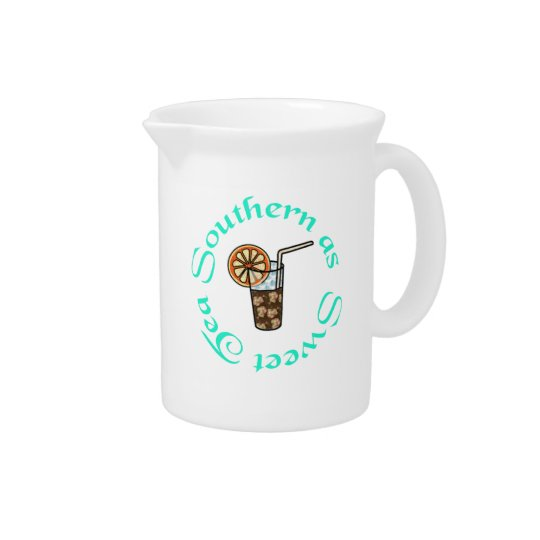 Southern as Sweet Tea Pitcher