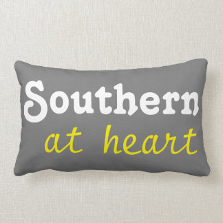 Southern at heart throw pillow throw cushions