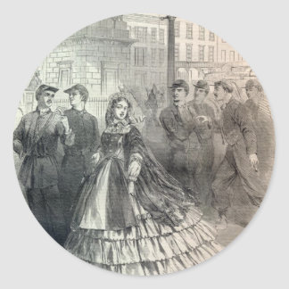 Southern belle, 1861 classic round sticker
