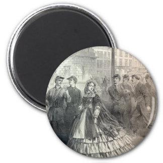 Southern belle, 1861 magnet