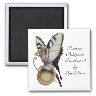 Southern Bellepunk Swallowtail Square Magnet