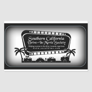 Southern California Drive-In Movie Society Swag Rectangular Sticker