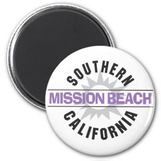 Southern California - Mission Beach 6 Cm Round Magnet
