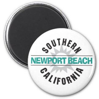 Southern California - Newport Beach 6 Cm Round Magnet